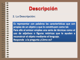 2. La Descripción