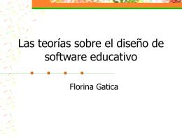 Las teorías sobre el diseño de software educativo