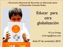 I Encuentro Nacional de Docentes en Educación para el