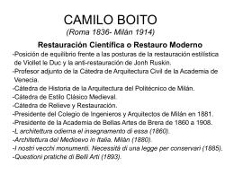 CAMILO BOITO (Roma 1836