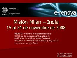 Viaje Milán – Italia 15/11/08 a 24/11/08