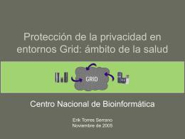 Protección de la privacidad en entornos Grid en el ámbito de la salud