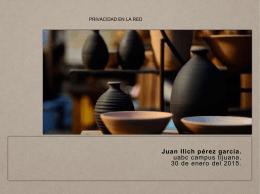 privacidad en la red juan ilich pérez garcía.