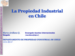 La Propiedad Industrial en Chile