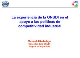 Indicadores del rendimiento industrial competitivo de la