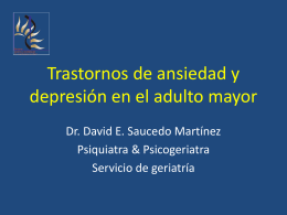Trastornos afectivos del adulto mayor