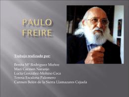 PAULO FREIRE - teoriaseinstituciones