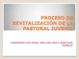 proceso de revitalización de la pastoral juvenil
