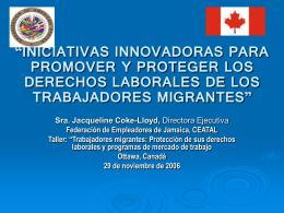 Trabajadores migrantes: Protección de sus derechos