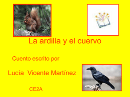La ardilla y el cuervo