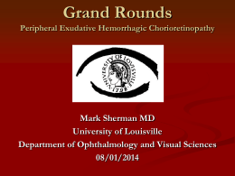 Grand Rounds - University of Louisville Ophthalmology