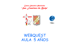 WEBQUEST AREAS INTEGRADAS - Colegio San Francisco de Borja.