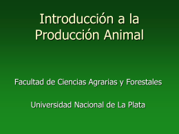 Introducción a la Producción Animal - Aula Virtual