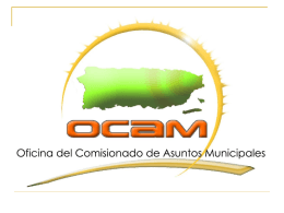 OFICINA DEL COMISIONADO DE ASUNTOS MUNICIPALES