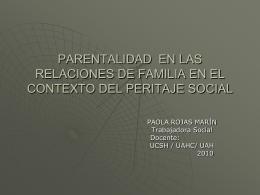 Parentalidad en las relaciones de familia