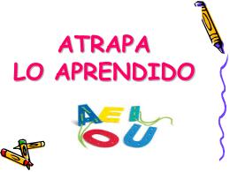 ATRAPA+LO+APRENDIDO