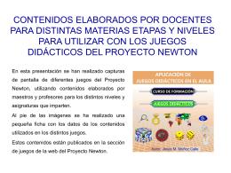 Versión ppt - Proyecto Newton