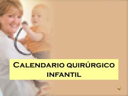 CALENDARIO QUIRURGICO INFANTIL