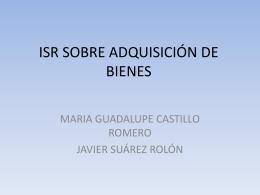ISR SOBRE ADQUISICIÓN DE BIENES 2003