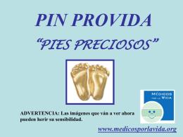 """PIN PROVIDA """"PIES PRECIOSOS"""""""