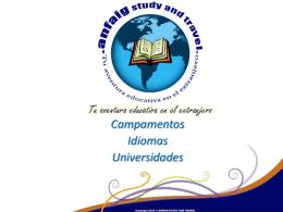 Descargue aqui la información detallada de las escuelas de idiomas