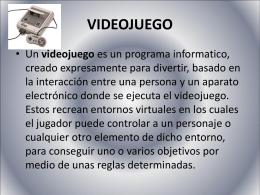 HISTORIA DE LOS VIDEOJUEGOS