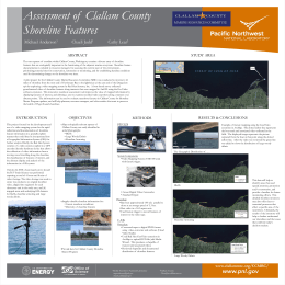 Assessment of Clallam County Shoreline Features Using a Red Hen