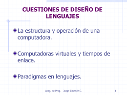 CUESTIONES DE DISEÑO DE LENGUAJES C2