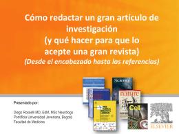 Como publicar un artículo científico para revistas internacionales