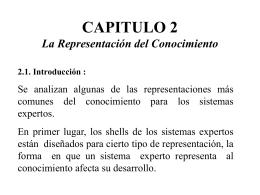 CAPITULO 2 La Representación del Conocimiento