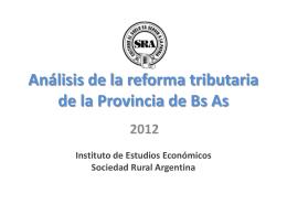 Análisis de la reforma tributaria de la Provincia de Buenos Aires