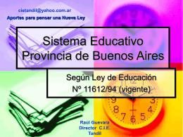 Sistema Educativo Provincia de Buenos Aires