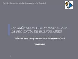 diagnósticos y propuestas para la provincia de