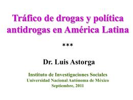 Tráfico de drogas ilegales y política