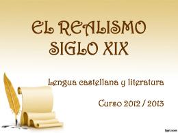 ROMANTICISMO Y REALISMO SIGLO XIX