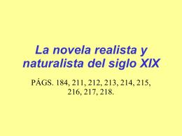 El Realismo - lenguayliteraturasoto