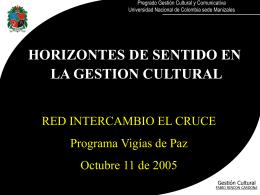 horizontes de sentido en gestión cultural