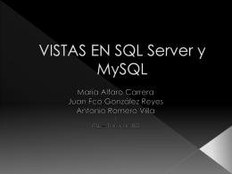 VISTAS EN MYSQL