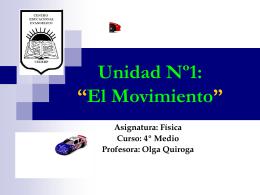 """Resumen Unidad: """"El Movimiento"""""""