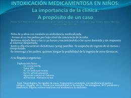 Intoxicación medicamentosa en niños: La importancia de