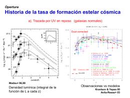 Opertura Historia de la tasa de formación estelar cósmica