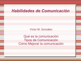 Algunos aspectos que mejoran la comunicación