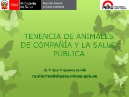 TENENCIA DE ANIMALES DE COMPAÑÍA Y LA SALUD PÚBLICA