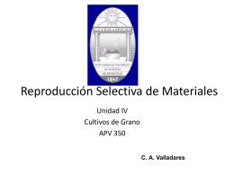 8. Reproducción Selectiva de Materiales