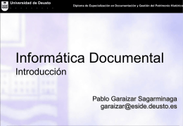 Informática Documental - Universidad de Deusto