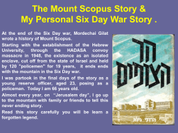 of Mount Scopus