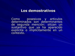 Los demostrativos - DEU-NA