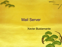 Server Mail en Tiger