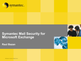Symantec Mail Security 5.0 for Exchange