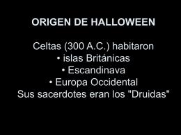 Origen de Halloween P.P